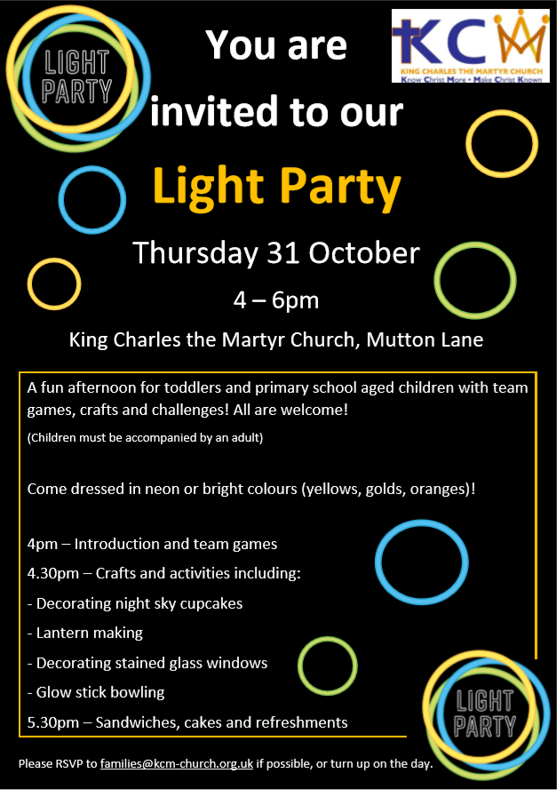 Light party flyer 2019