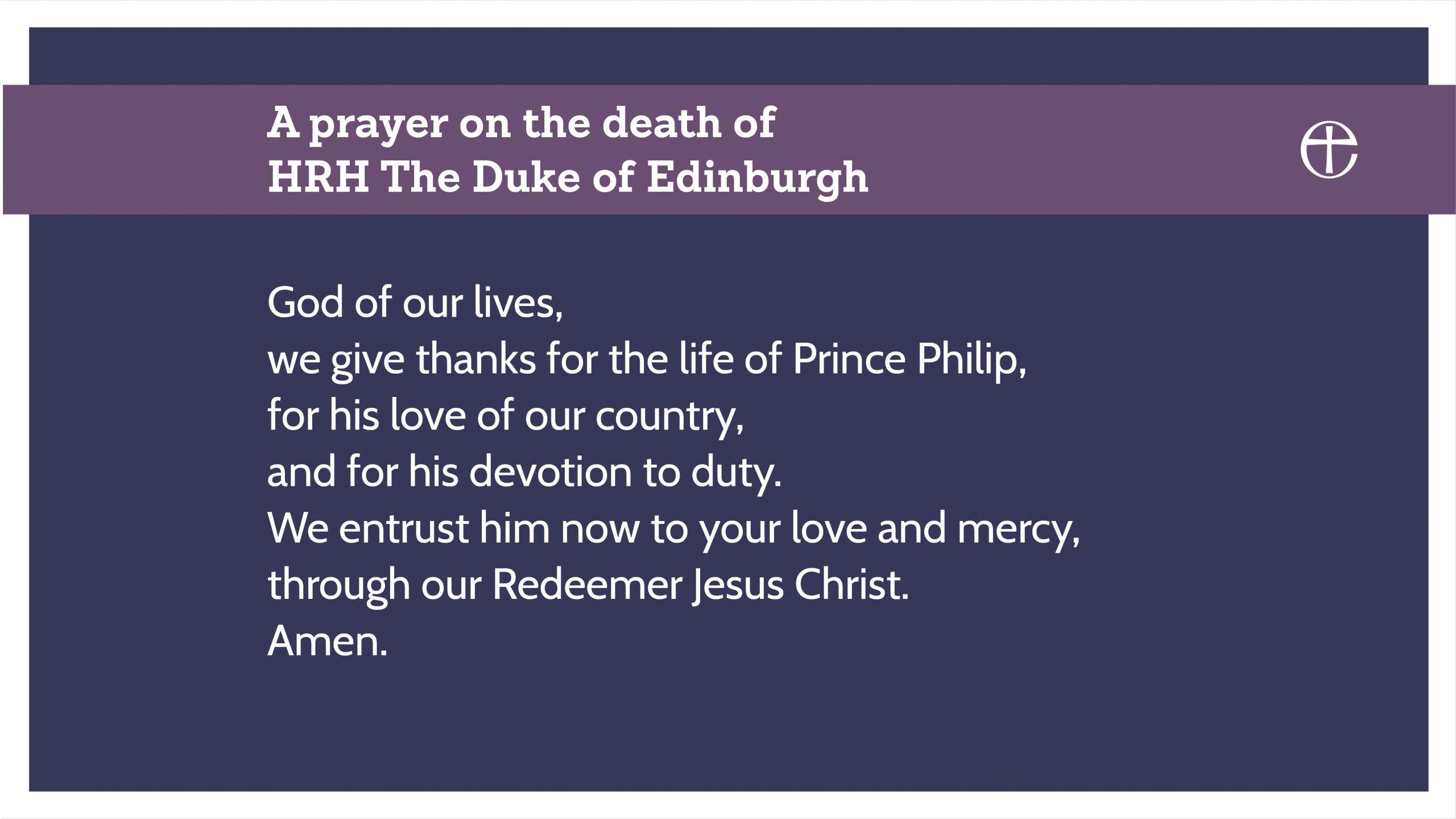 Prince Philip Prayer 09April2021